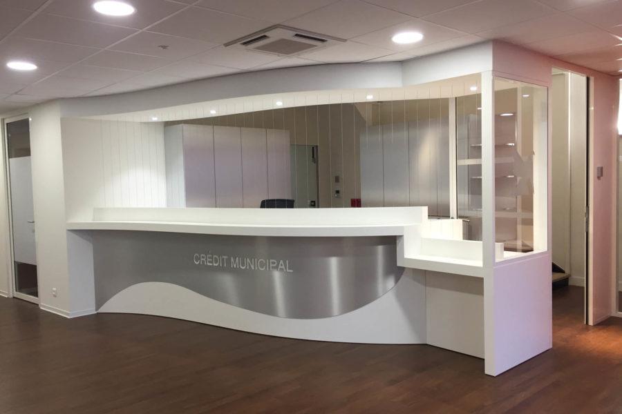 Agence bancaire - Crédit Mutuel - Toulon - Nos réalisations - Impact Agencement